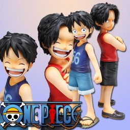 One Piece: P.O.P. Ruffy & Ace 1/8 Scale PVC Statue