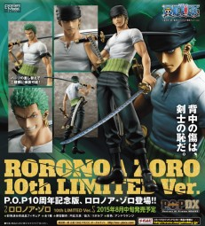 One Piece: P.O.P. Roronoa Zoro 10th Limited Edition 1/8 Scale PVC Statue