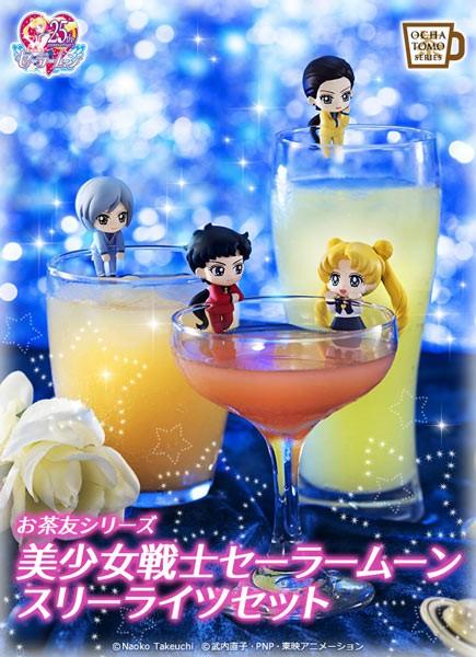 Sailor Moon Ochatomo Series Figure 4-Pack Three Lights 5 cm Megahouse Mini