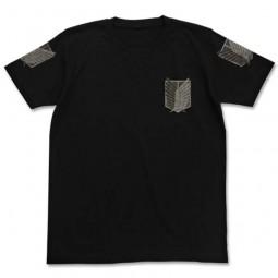 Shingeki no Kyojin: T-Shirt Chousa Heidan Black
