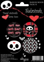 Skelanimals Button Set Mood Pack2