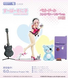 Nitro Super Sonic: Super Sonico Baby Doll Strawberry Sorbet DX Set Ver. non Scale PVC Statue