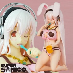 Nitro Super Sonic: Super Sonico Brushing Teeth Ver. 1/8 Scale PVC Statue